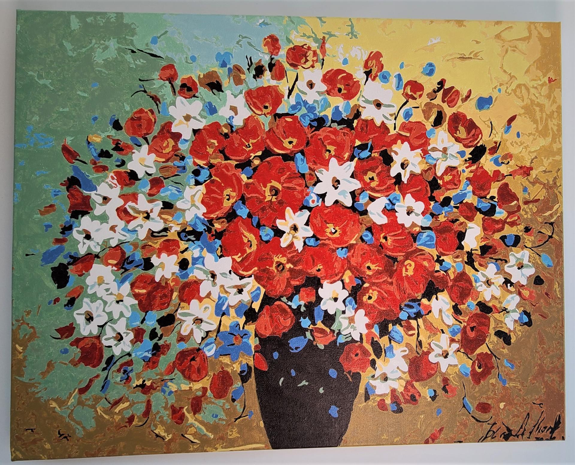 작품명 - 꽃 한 묶음에 소망