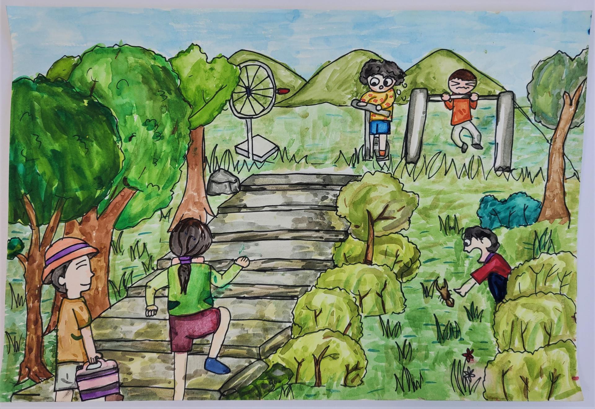 작품명 - 코로나가 사라진 뒤 평온한 공원